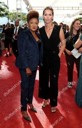Wanda Sykes, Alex Sykes. Wanda Sykes, left, and Alex Sykes arrive at night one of the Television Academy's 2019 Creative Arts Emmy Awards, at the Microsoft Theater in Los Angeles