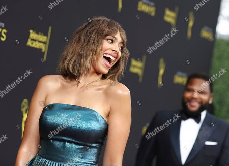 Stock Image of Amber Stevens West arrives at the Television Academy's 2019 Creative Arts Emmy Awards - Arrivals - Night One, at the Microsoft Theater in Los Angeles