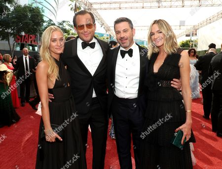 Alessandra Brawn, Will Arnett, Jimmy Kimmel, Molly McNearney. Alessandra Brawn, from left, Will Arnett, Jimmy Kimmel, and Molly McNearney arrive at night one of the Television Academy's 2019 Creative Arts Emmy Awards, at the Microsoft Theater in Los Angeles