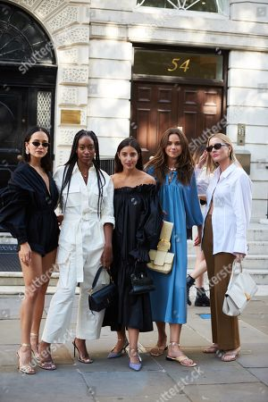 Editorial picture of Street Style, Spring Summer 2020, London Fashion Week, UK - 14 Sep 2019