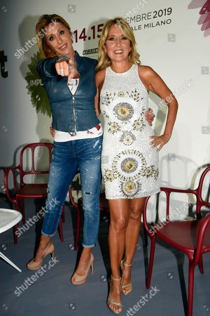 Stock Picture of Sabrina Salerno and Jo Squillo