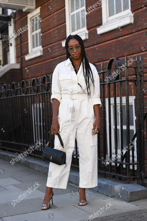 Editorial image of Street Style, Spring Summer 2020, London Fashion Week, UK - 14 Sep 2019