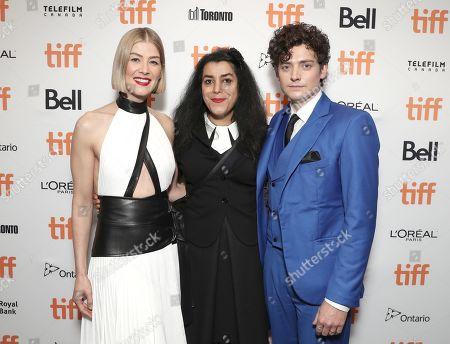 Rosamund Pike, Marjane Satrapi and Aneurin Barnard