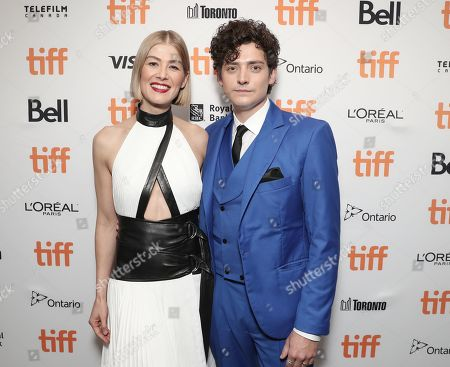Rosamund Pike and Aneurin Barnard