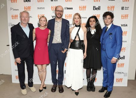 Paul Webster, Lauren Redniss, Jack Thorne, Rosamund Pike, Marjane Satrapi and Aneurin Barnard