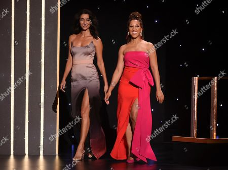 Necar Zadegan, Robin Thede. Necar Zadegan, left, and Robin Thede walk on stage on night one of the Television Academy's 2019 Creative Arts Emmy Awards, at the Microsoft Theater in Los Angeles