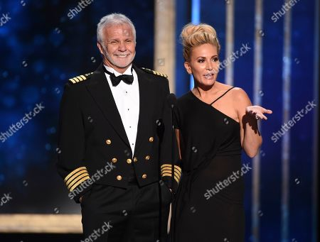 Captain Lee Rosbach, Kate Chastain. Captain Lee Rosbach, left, and Kate Chastain speak on stage on night one of the Television Academy's 2019 Creative Arts Emmy Awards, at the Microsoft Theater in Los Angeles