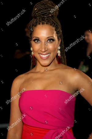 Stock Picture of Robin Thede poses backstage during night one of the Television Academy's 2019 Creative Arts Emmy Awards, at the Microsoft Theater in Los Angeles