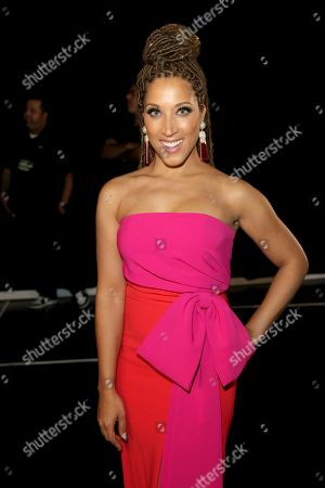 Stock Image of Robin Thede poses backstage during night one of the Television Academy's 2019 Creative Arts Emmy Awards, at the Microsoft Theater in Los Angeles