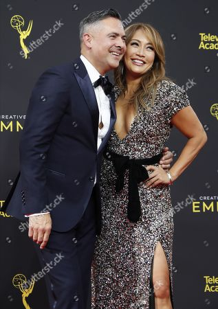 Raj Kapoor and Carrie Ann Inaba arrives on the red carpet for the 2019 Creative Arts Emmy Awards at the Microsoft Theater in Los Angeles, California, USA, 14 September 2019. The Creative Arts Emmy Awards honor excellence in Television technical categories such as makeup, casting direction, costume design, editing and cinematography. The 71st Primetime Emmy Awards Ceremony will take place on 22 September 2019.