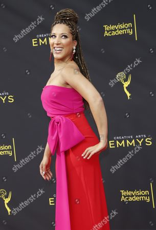 Robin Thede arrives on the red carpet for the 2019 Creative Arts Emmy Awards at the Microsoft Theater in Los Angeles, California, USA, 14 September 2019. The Creative Arts Emmy Awards honor excellence in Television technical categories such as makeup, casting direction, costume design, editing and cinematography. The 71st Primetime Emmy Awards Ceremony will take place on 22 September 2019.
