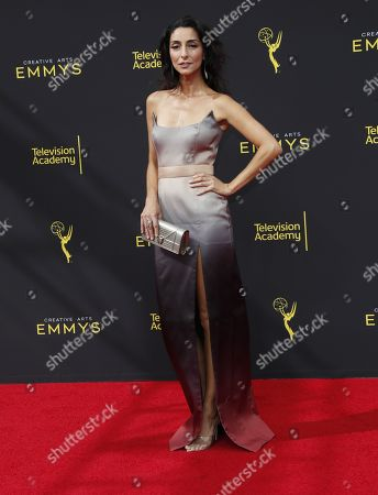 Necar Zadegan arrives on the red carpet for the 2019 Creative Arts Emmy Awards at the Microsoft Theater in Los Angeles, California, USA, 14 September 2019. The Creative Arts Emmy Awards honor excellence in Television technical categories such as makeup, casting direction, costume design, editing and cinematography. The 71st Primetime Emmy Awards Ceremony will take place on 22 September 2019.
