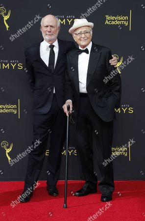 James Burrows (L) and Norman Lear arrives on the red carpet for the 2019 Creative Arts Emmy Awards at the Microsoft Theater in Los Angeles, California, USA, 14 September 2019. The Creative Arts Emmy Awards honor excellence in Television technical categories such as makeup, casting direction, costume design, editing and cinematography. The 71st Primetime Emmy Awards Ceremony will take place on 22 September 2019.