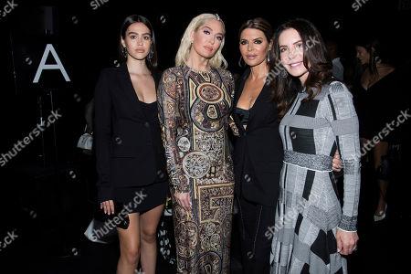Lisa Rinna, Erika Jayne, Amelia Gray Hamlin, Lois Robinson. Amelia Hamlin, left, Erika Jayne, Lisa Rinna and Lois Robinson attend the Vera Wang show during Fashion Week on in New York