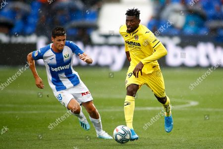 Andre Zambo Anguissa of Villarreal and Guido Carrillo of Leganes