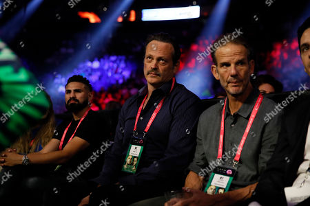 Stock Photo of US actor Vince Vaughn (C) attends the Jose Zepeda of the US vs Jose Pedraza of Puerto Rico fight for their USNBC Super Lightweight title fight at the T-Mobile Arena in Las Vegas, Nevada, USA, 14 September 2019.