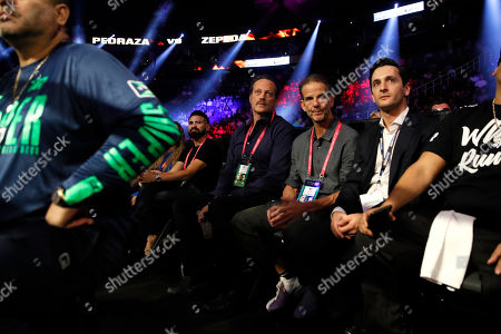 Stock Picture of US actor Vince Vaughn (C) attends the Jose Zepeda of the US vs Jose Pedraza of Puerto Rico fight for their USNBC Super Lightweight title fight at the T-Mobile Arena in Las Vegas, Nevada, USA, 14 September 2019.