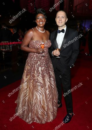 Kendra Pasker, Michael Wright. Kendra Pasker, left, and Michael Wright attend the Governors Ball during night one of the Television Academy's 2019 Creative Arts Emmy Awards, at the Microsoft Theater in Los Angeles