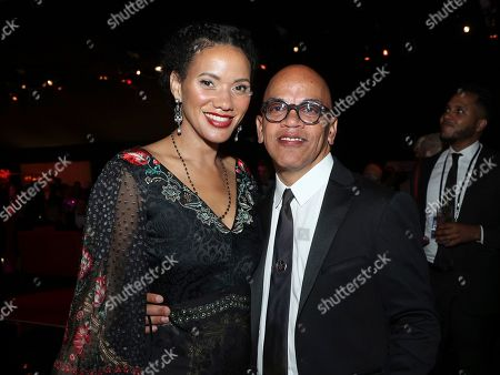 Rickey Minor, Rachel Montez Minor. Rickey Minor, right, and Rachel Montez Minor attend the Governors Ball during night one of the Television Academy's 2019 Creative Arts Emmy Awards, at the Microsoft Theater in Los Angeles
