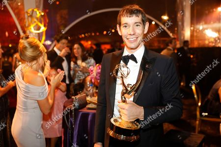 "Alex Honnold, from ""Free Solo,"" attends the Governors Ball during night one of the Television Academy's 2019 Creative Arts Emmy Awards, at the Microsoft Theater in Los Angeles"