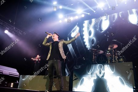 Brendon Urie of Panic! At The Disco performs on stage during Day 1 of Music Midtown 2019, in Atlanta