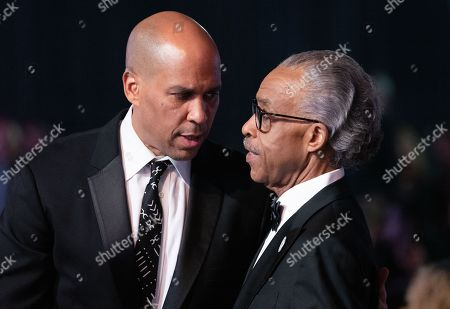 Cory Booker and Reverend Al Sharpton