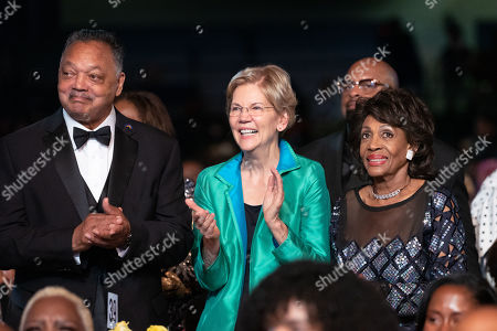 Reverend Jesse Jackson, Elizabeth Warren and Maxine Waters