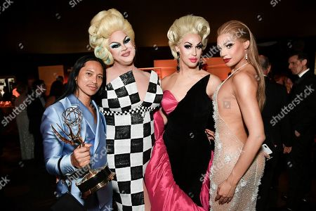 Zaldy Goco, Nina West, Brooke Lynn Hytes, Valentina. Zaldy Goco, from left, Nina West, Brooke Lynn Hytes and Valentina attend the Governors Ball on night one of the Creative Arts Emmy Awards, at the Microsoft Theater in Los Angeles