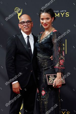 US music director Rickey Minor (L) and Rachel Minor arrive for the 2019 Creative Arts Emmy Awards at the Microsoft Theater in Los Angeles, California, USA, 14 September 2019. The Creative Arts Emmy Awards honor excellence in Television technical categories such as makeup, casting direction, costume design, editing and cinematography. The 71st Primetime Emmy Awards Ceremony will take place on 22 September 2019.