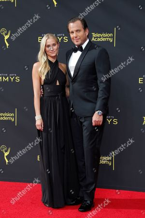 Will Arnett (R) and Alessandra Brawn arrive for the 2019 Creative Arts Emmy Awards at the Microsoft Theater in Los Angeles, California, USA, 14 September 2019. The Creative Arts Emmy Awards honor excellence in Television technical categories such as makeup, casting direction, costume design, editing and cinematography. The 71st Primetime Emmy Awards Ceremony will take place on 22 September 2019.
