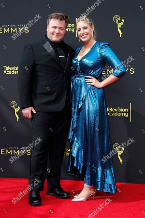 Stock Picture of Benjamin Wallfisch and his wife Missy arrive for the 2019 Creative Arts Emmy Awards at the Microsoft Theater in Los Angeles, California, USA, 14 September 2019. The Creative Arts Emmy Awards honor excellence in Television technical categories such as makeup, casting direction, costume design, editing and cinematography. The 71st Primetime Emmy Awards Ceremony will take place on 22 September 2019.