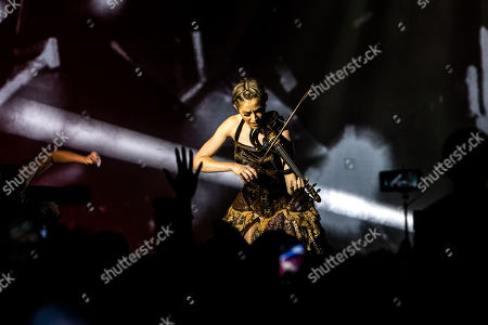 Editorial image of Lindsey Stirling in concert, Milan, Italy - 14 Sep 2019