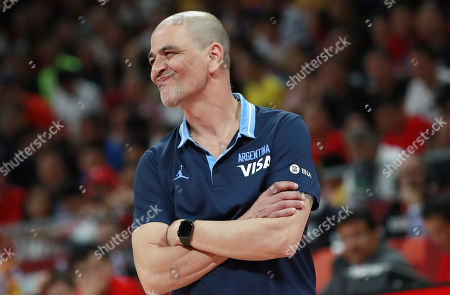 Stock Picture of Argentina's coach Sergio Hernandez reacts during the FIBA Basketball World Cup 2019 final match between Argentina and Spain, in Beijing, China, 15 September 2019.