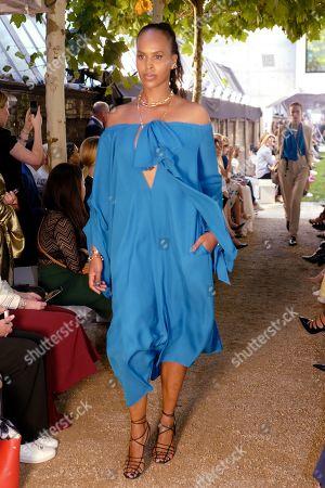 Sabrina Dhowre Elba on the catwalk