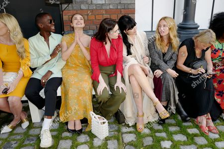 Lady Kitty Spencer, Ncuti Gatwa, Guest, Charli Howard, Daisy Lowe and Josephine De La Baume in the front row