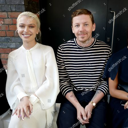 Alice Chater and Professor Green in the front row