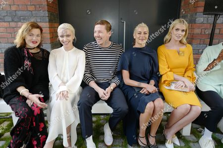 Jasmine Guiness, Alice Chater, Professor Green, Guest and Lady Kitty Spencer in the front row