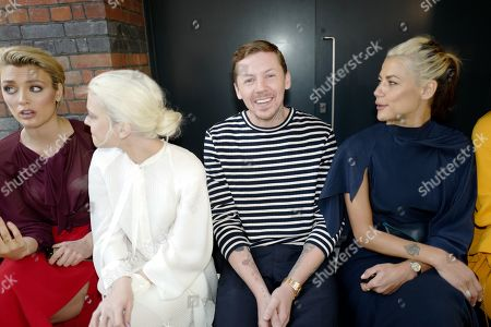 Wallis Day, Alice Chater, Professor Green and guest in the front row