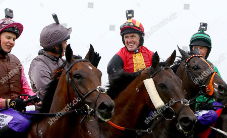 The Pat Smullen Champions Race For Cancer Trials Ireland. Ruby Walsh and Tony McCoy after the race
