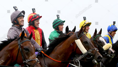 The Pat Smullen Champions Race For Cancer Trials Ireland. Ruby Walsh, Tony McCoy and Paul Carberry after the race