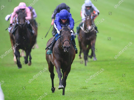 CURRAGH. Goffs Vincent O'Brien National Stakes. Group 1. PINATUBO and William Buick winning for trainer Charlie Appleby.