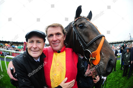 CURRAGH. Pat Smullen Champions Race. TONY McCOY is joined by PAT SMULLEN after he won aboard QUIZICAL.