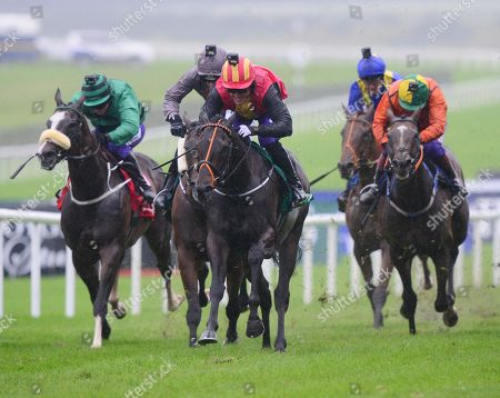 Curragh QUIZICAL & Tony McCOy winning the the Pat SMullen Champions Race for Cancer Trials Ireland from AUSSIE VALENTINE & KATIYMANN