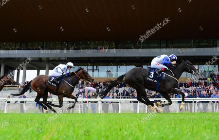 Curragh BUFFER ZONE & Colin Keane win the Bold Lad Sprint Handicap from MAKE A CHALLENGE & Joey Sheridan.
