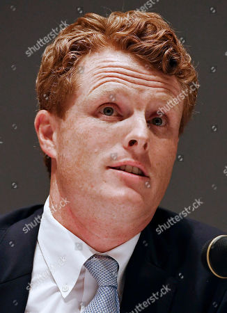 U.S. Rep. Joe Kennedy III, speaks on a panel on race and politics, in Springfield, Mass
