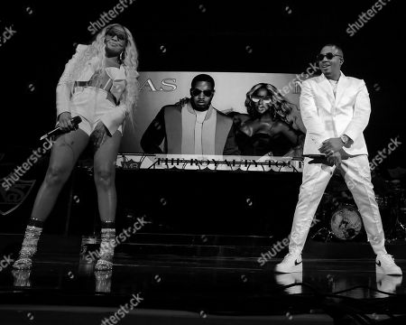 Stock Picture of Mary J Blige and Nas