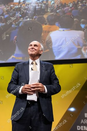 Stock Picture of Sir Vince Cable delivers his final conference speech ahead of stepping down as an MP.