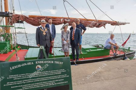 Stock Picture of Sir David Amess at Old Leigh Regatta