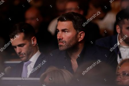 Stock Picture of Boxing promoter Eddie Hearn during a WBA intercontinental heavyweight championship boxing match between Russia's Sergey Kuzmin and Michael Hunter, in New York. Hunter won the fight