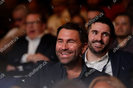 Stock Image of Boxing promoter Eddie Hearn during a WBA intercontinental heavyweight championship boxing match between Russia's Sergey Kuzmin and Michael Hunter, in New York. Hunter won the fight